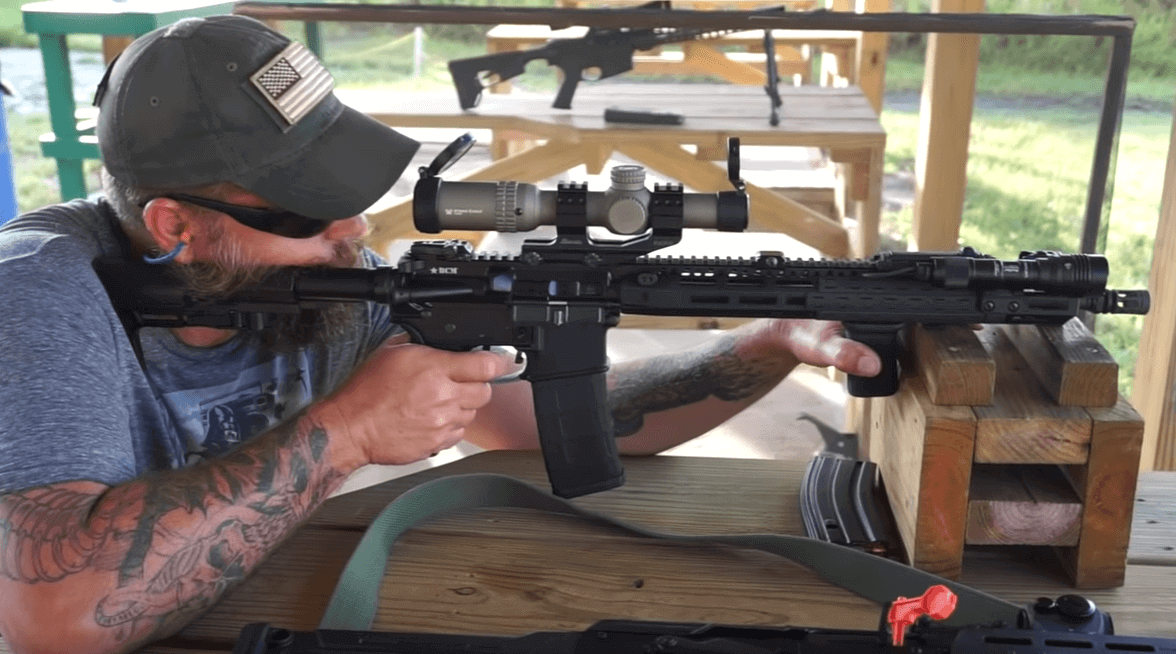 ar10 range shooting with scope