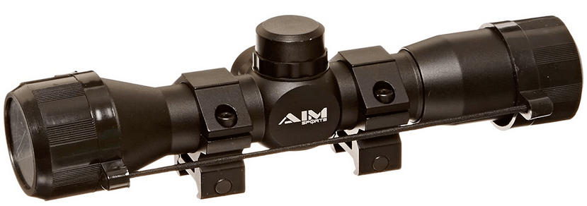 Aim Sports 4X32 Compact Rangfinder Rifle Scope with Rings