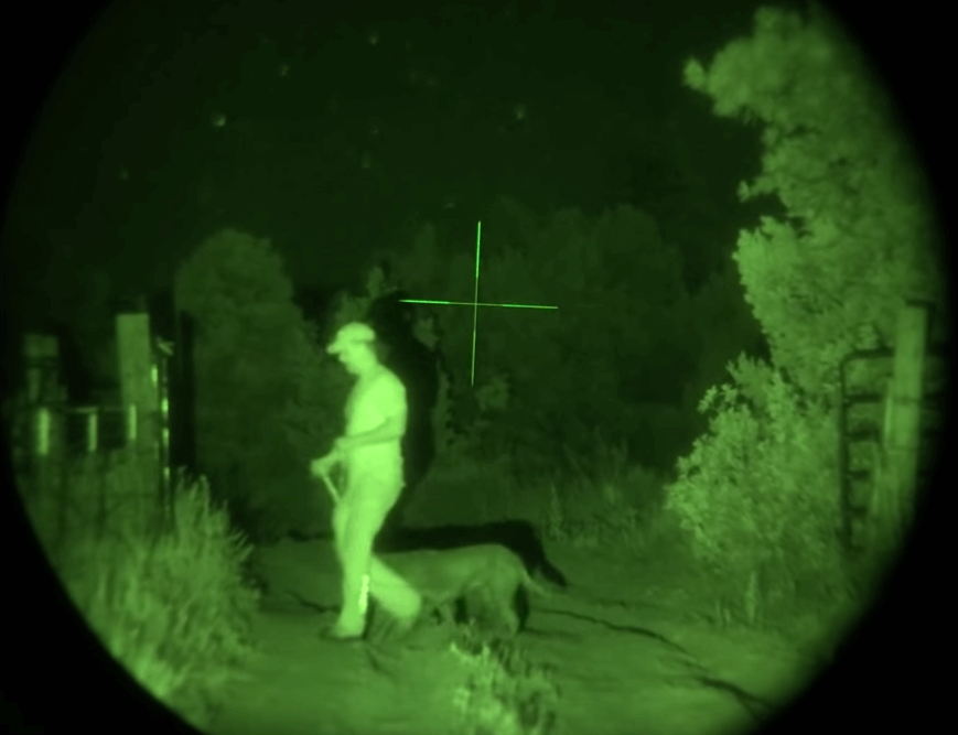 green night vision scope image