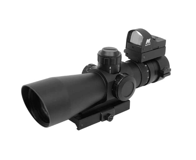 NcStar Mark III Tactical P4 Sniper 3-9X42:Scope Adaptor Mount:Red Dot Combo Package (STP3942G:D)