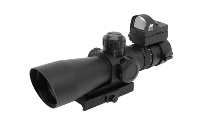 NcStar Mark III Tactical P4 Sniper 3-9X42:Scope Adaptor Mount:Red Dot Combo Package