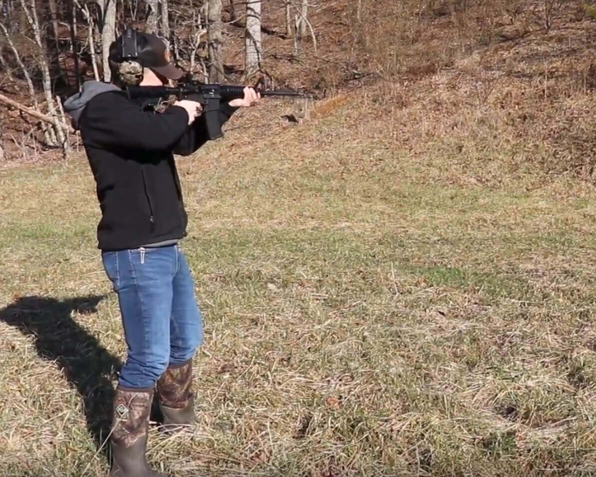 ruger 556 scope and rifle